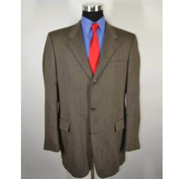 Kenneth Cole Other - Kenneth Cole 43L Sport Coat Blazer Suit Jacket Bro